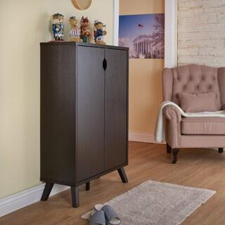 Furniture of America Missina Modern Cappuccino 5-Shelf Enclosed Cabinet