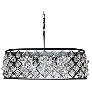 Cassiel 20-inch Dark Bronze Crystal Chandelier