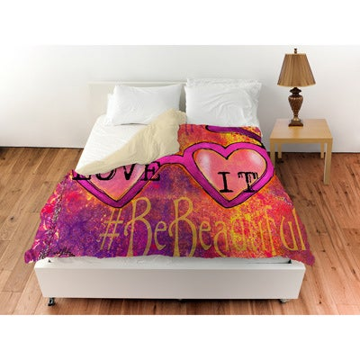 Thumbprintz Sunglasses Love It Duvet Cover