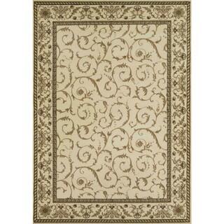 Amalfi Scroll Ivory area rug (3'3 x 4'11)