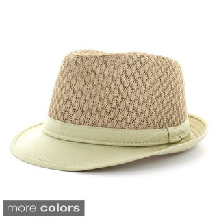 Faddism Men's Cotton Blend Fashion Fedora Hat