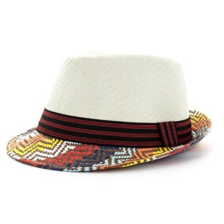 Faddism Men's Tribal Print Fashion Fedora Hat