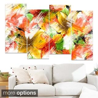 Design Art 'Multicolor Flower Art' Canvas Art Print
