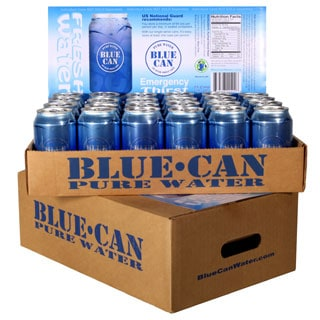 Blue Can Emergency Drinking Water - 50 Year Shelf Life