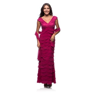 Dollar Women's Tulip Tiered Gown w/Wrap