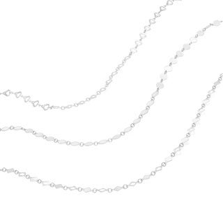 Sterling Essentials Italian Silver Fancy Link Necklace