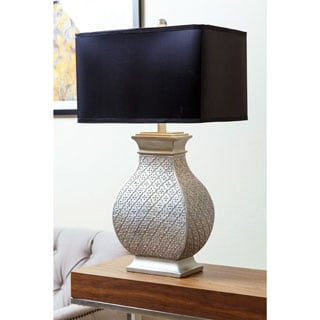 ABBYSON LIVING Geneva Silver Embossed Table Lamp
