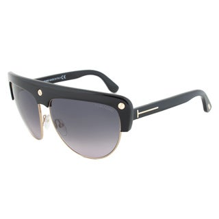 Tom Ford FT0318 01B Liane Shield Black/ Gold Frame Sunglasses