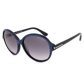 Tom Ford Women's FT0343 83F Milena Purple/ Blue Round Sunglasses