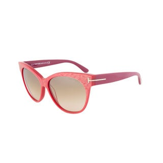 Tom Ford TF330 77G Saskia Red Cyclamen Oval Sunglasses