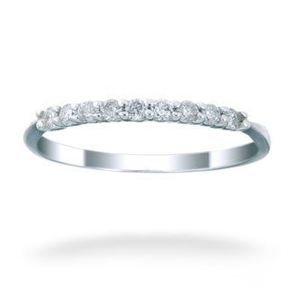 14k White Gold 1/5ct TDW Diamond Wedding Band (G-H, I1-I2)