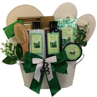 Art of Appreciation Peace and Relaxation Eucalyptus Aromatherapy Spa Bath and Body Gift Basket Set