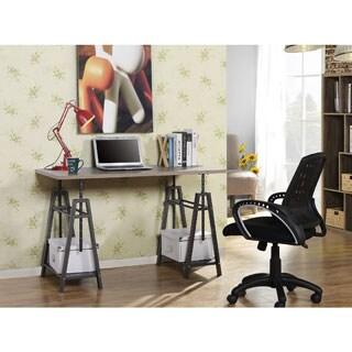 Homestar Height Adjustable Desk in Reclaimed Wood