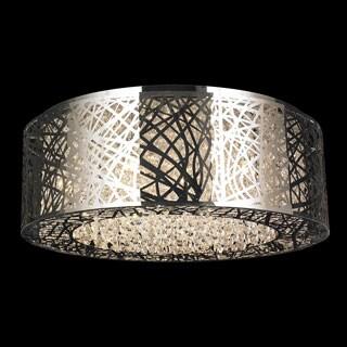 Aramis D24-inch H8-inch 12 Light Chrome Finish Clear Crystal LED Ceiling Light