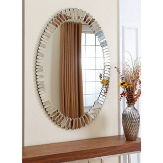ABBYSON LIVING Santorini Oval Wall Mirror