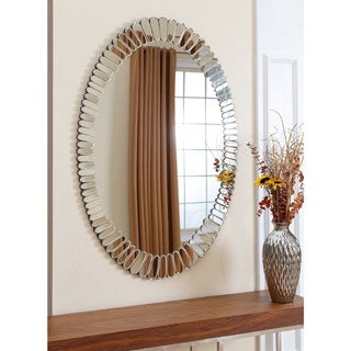 ABBYSON LIVING Santorini Oval Wall Mirror
