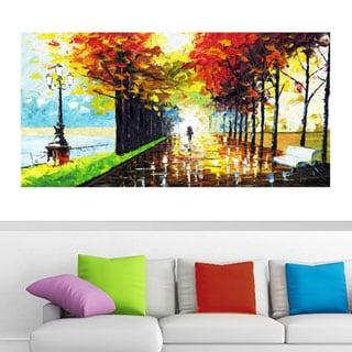 Design Art 'Walk On' Forest Landscape 40 x 20 Canvas Art Print