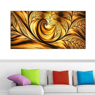 Design Art 'Golden Dream' 40 x 20 Canvas Art Print