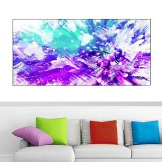 Design Art 'Hues of Blue' Flower Art 40 x 20 Canvas Art Print