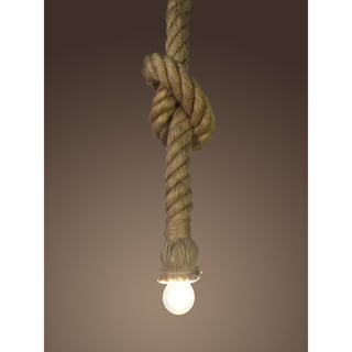 Bailey 1-light Hemp Rope 1.4-inch Thick Edison Pendant with Bulb