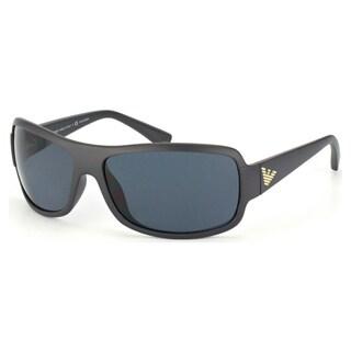 Emporio Armani Men's EA4012 Plastic Rectangle Polarized Sunglasses
