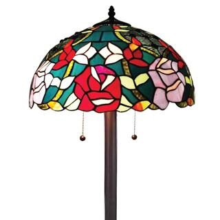 Amora Lighting Tiffany Style Roses Design Floor Lamp