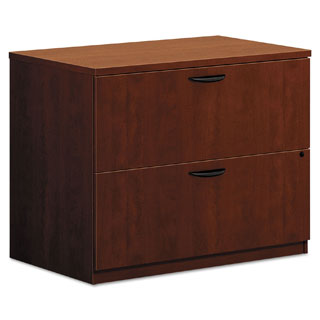 basyx by HON BL Medium Cherry 35 1/2 x 22 x 29 Laminate 2-drawer Lateral File