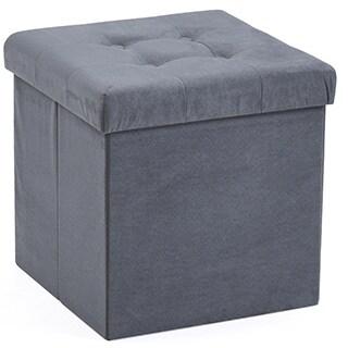 Hodedah Foldable Storage Ottoman