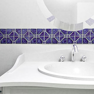 SomerTile 11.75x11.75-inch Namba Blue Cloud Porcelain Mosaic Floor and Wall Tile (Case of 10)