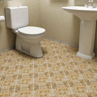 SomerTile 7.75x7.75-inch Gavras Arena Décor Dahlia Ceramic Floor and Wall Tile (Case of 25)