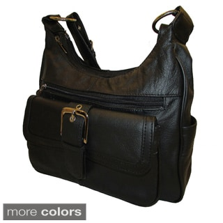 Fashionable Continental Leather Shoulder Bag with Multiple Organizing Pockets