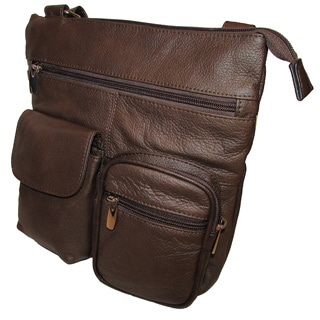 Continental Leather Women's Crossbody Messenger Bag with Multiple Pockets