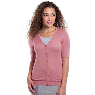 DownEast Basics Women's Lightweight Summer Air Cardigan