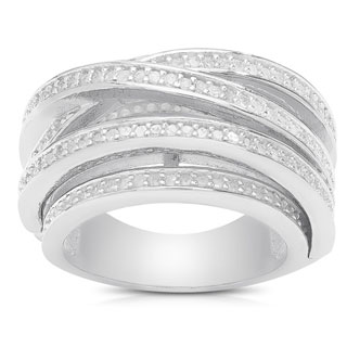 1ct TDW Diamond Fashion Crossover Ring