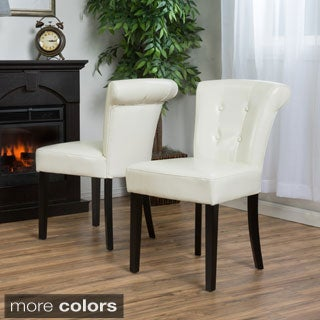 Christopher Knight Home Orchard Bonded Leather Dining Chair (Set of 2)