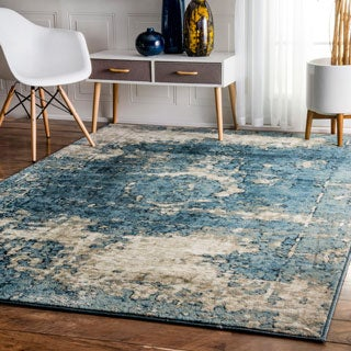 nuLOOM Traditional Vintage Fancy Grey Rug (9' x 12')