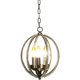 Sophia 3-light Antique 10-inch Crystal Flush Mount