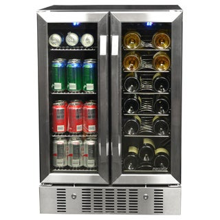 NewAir AWB-360DB 18 Bottle and 52 Can Wine and Beverage Cooler