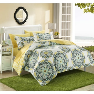 Chic Home Aragona Printed Medallion Reversible 3-piece Duvet Set