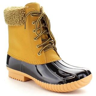 Nature Breeze Women's Insulated Zip Waterproof Duck Boots
