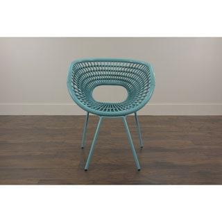 Decorative Sleek Blue Modern Indoor/ Outdoor Chair