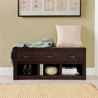 Altra Westbrook Dark Walnut Storage Bench