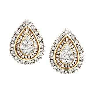 10 kt 1 cttw diamond stud earring