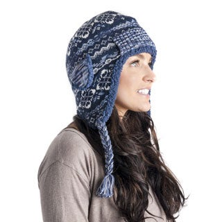 Muk Luks Women's Tassel Helmet with Pocket