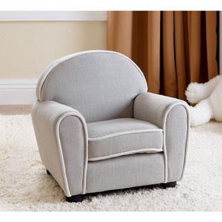 ABBYSON LIVING Kids Larsa Baby Grey Linen Armchair