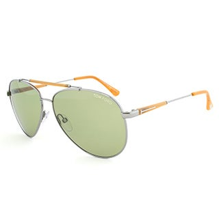 Tom Ford TF378 14N Rick Gunmetal Aviator Sunglasses