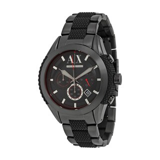 Armani Exchange Men's AX1387 Black Stainless Steel Quartz Watch