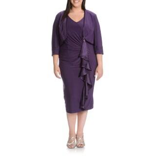 DANA KAY Women's Purple 2-piece Dress with Jacket
