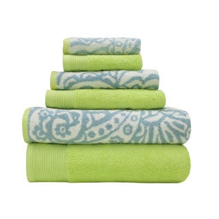 Egyptian Cotton Yarn-dyed Paisley 6-piece Towel Set