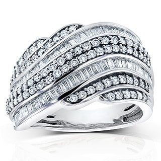 Annello 10k White Gold 1ct TDW Diamond Ring (H-I, I2-I3)
